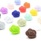 Rose Flower Silicone Teething Beads DIY Baby Chewable Necklace Sensory Teethers