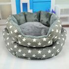 Pet Nesting Bed Stars Pattern Dog Sofa Animal Warm Cushion Mat Detachable Basket
