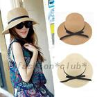 Women's Summer Straw Foldable Travel Sun Hat Beach Caps Bowknot Fashion Quality