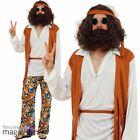 Adults Mens Hippy Man Hippie Groovy Woodstock 60s 70s Fancy Dress Costume Outfit