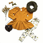 Внешний вид - 2-7Y NEW Toddler Kids Girls Outfits Clothes T-shirt Tops Dress+Pants Casual Set