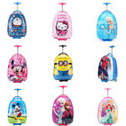 Cartoon Kids Backpack 2-Wheeled Trolley Compartment Case Travel Luggage School Bag