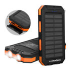 Waterproof 300000mAh 2USB Portable Solar Battery Charger Power Bank For Phone US