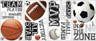 Neu RoomMates Wandsticker All Stars Sports Sayings, 24-tlg. 7980459