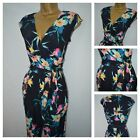NEW WALLIS JUMPSUIT FLORAL BLACK BLUE PINK GREEN EVENING CASUAL SIZE 8 - 20