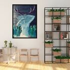 3d Antlers Abstract 445 Fake Framed Poster Home Decor Print Painting Unique Art