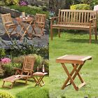 Garden Furniture Bistro Set, Bench, Sun Lounger Deck Chair & Foldable Table New