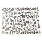 Wholesale 1000pcs Bulk Lots Tibetan Silver Mix Charm Pendants Jewelry DIY US