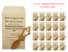 20 x HJ3L - Welsh Lovespoon Wedding Favours with Personalised Envelopes