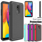 For LG G7 ThinQ Phone Case Shockproof Cover With Tempered Glass Screen Protector