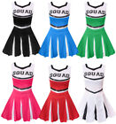 ADULT CHEERLEADER COSTUME CHEER LEADER OUTFIT SQUAD FANCY DRESS HIGH SCHOOL