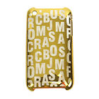 NEW Marc by Marc Jacobs Dreamy Jumbled Logo Silicone Plastic iPhone 3 Case