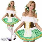 Adults Ladies Tyrolean Girl Bavarian Beer Wench Oktoberfest Fancy Dress Costume