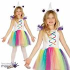 Childs Girls Unicorn Tutu Fancy Dress Costume Rainbow Book Week Outfit Ears Horn