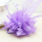 Feather pearl silk rose wrist corsage brooch or bracelet with prom wedding decor