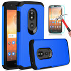 For Motorola Moto E5 Play E5 Cruise Shockproof Hybrid Case With Screen Protector