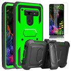 For LG G8 ThinQ / G7 Case With Kickstand Clip Shockproof Hybrid/Screen Protecor