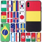 World Cup Flag PC Hard Back Full Protector Case Cover For iPhone X/7/8/6S Plus