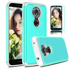 For Motorola Moto G6 Play Shockproof Hybrid Armor TPU Case With Screen Protector