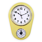 Retro Vintage Style 8.5 Inch Kitchen Wall Clock With 60 Minutes Timer Mint Green