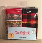 NEW Cat & Jack 2 ct/pair BOYS Boxer Briefs Small, Medium, Large 100% Cotton Red