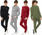 Womens Zip Long Sleeve Top Trousers Bottoms Loungewear Ladies Jogging Suit Set