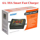 12V 6A 10A Auto Fast Lead-acid Battery Charger For Car Motorcycle LCD Display US