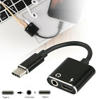 Charger and Headphone 2 in 1 USB Type C to 3.5mm Aux Audio Cable Cord Adapter