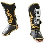 BLACK 'DG2018' SHIN INSTEP PROTECTION FOR MUAY THAI TRAINING AND FIGHTING