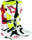 Alpinestars Tech 10 Boots White Red Yellow