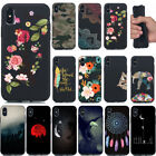 For iphone SE 6S 7 8 Plus/X Ultra Slim Soft TPU Silicone Painted Back Case Cvoer