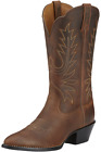 Ariat Women's Heritage Western R Toe Cowgirl Boot - Distressed Brown