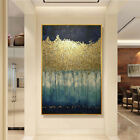 Fashion Hand Painted Golden Abstract Oil Painting Modern Living Room Decor Wall