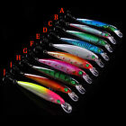 10 Pcs Hard Metal Fishing Lures Small Minnow Lure Bass Crank Bait Tackle Hooks