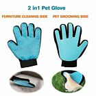 Pet Dog Cat Grooming Gloves Dirt Hair Remover Brush for Gentle Deshedding Y007 $4.11 USD on eBay