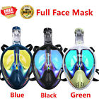 ENKEEO Full Face Mask Surface Diving Snorkel 180 Degree Anti Fog Scuba For Gopro