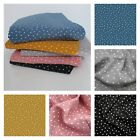 Speckled Dots DOUBLE GAUZE 100% cotton Fabric Dressmaking Lightweight Spots