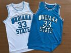NCAA Indiana State University Larry Bird #33 Boston Celtics Basketball Jersey
