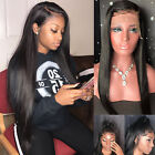 360 Wig Straight Brazilian Remy Human Hair Lace Front Wigs For African American