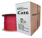 Cat6 Plenum 1000ft CMP Cable 550MHZ  RED - WHITE - YELLOW