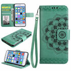 iPhone 6 6S 7 8 &amp; Plus Models Premium Leather Wallet Case Flip Cover +Card Slots <br/> Embossed Design| Free &amp; Fast Shipping| Samsung S9 &amp; S9+