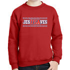 Jesus Saves USA Kids Sweatshirt Patriotic American Jesusaves Long Sleeve - 2045C