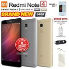New & Sealed Factory Unlocked Xiaomi Redmi Note 4 Grey Gold 64gb Android Phone