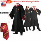 US Stock Gryffindor Slytherin Cape Cloak With Tie Halloween Robe Cosplay Costume
