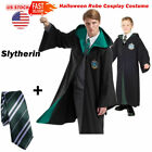 Gryffindor Slytherin Youth Robe Cloak Hogwarts Adults Kids Cape Xmas COS Costume