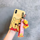 Cute stitch minnie pooh Doll Wristband case Cover for iPhone X XS Max 8 7 6 Plus