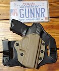 FITS SIG SAUER MODELS IWB & OWB TUCKABLE HYBRID HOLSTER KYDEX BRIDLE LEATHER CCW