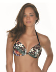 Women's Padded Top Brazilian Bikini Halter Swimwear Push Up Swimsuit Bra Bandeau