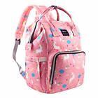 Mummy Diaper Bag Maternity Baby Nappy Backpack Waterproof Free Get Stroller Hook
