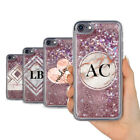 PERSONALISED ROSE GOLD REAL LIQUID GLITTER GEOMETRIC GEL PHONE CASE FOR IPHONE